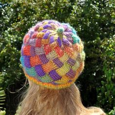 Entrelac Hat pattern by Anne Rousseau