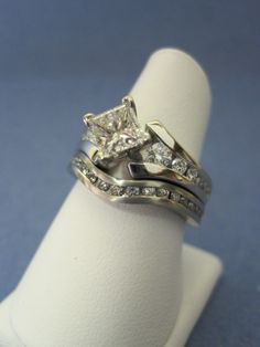 Custom Made CAD Design Bridal Set - Jensen Jewelers of Toledo www.jensenjewelers.net