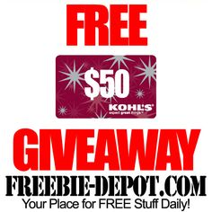 Win a $50 Kohl's Gift Card from  FREEBIE-DEPOT.COM Ends 1-31  http://www.freebie-depot.com/new-year-new-pin-it-to-win-it-giveaway/#