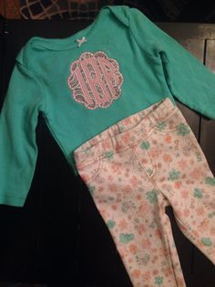 Monogrammed shirt with matching skinny jeans for my niece