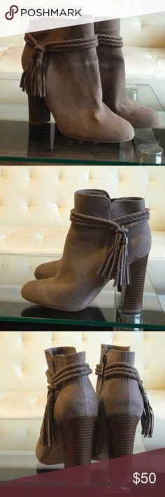 Tassel booties Tassel booties! Super cute! Shoes Ankle Boots & Booties
