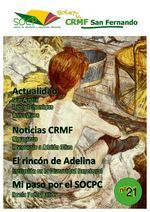 Boletín nº 21 del SOCP-CRMF de San Fernando, creado en el curso de Diseño Gráfico #DGW14