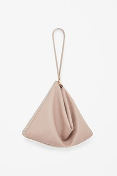 COS Foldable geometric clutch in Sand Leather Craft, Leather Bag, Soft Leather, Minimalism Living, Fashion Bags, Fashion Accessories, Minimalist Bag, Branded Bags, Clutch Bag