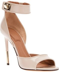 Ankle Strap Sandal - Lyst http://www.lyst.com/shoes/givenchy-ankle-strap-sandal-nude/