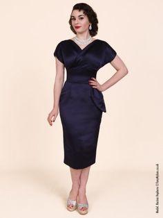 Jezebel Navy Duchess Dress from Vivien Of Holloway