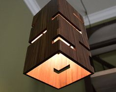 Wooden Pendant Light _Craftsman by LottieandLu on Etsy