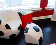 Soccer stars alike can appreciate this soccer ball. The ball converts into a chair, saving space when not in use.