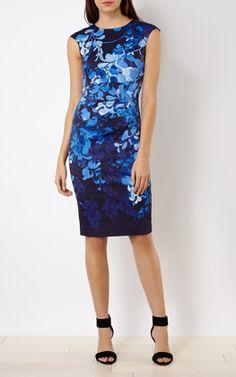 FLORAL-PRINT PENCIL DRESS