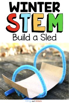 With this Winter STEM Project, students receive a letter from the STEM snowman stating that they forgot to bring a sled to play with their friends. In order to go sledding, they will need to build a sled using only the materials provided.  #winterstemactivity #winterstemforkids