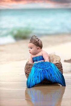 Baby mermaid - beach - baby photography - the Lilly mermaid Cute Little Baby, Cute Baby Girl, Little Babies, Beach Baby Photography, Newborn Photography, Brighton Photography, Rain Photography, Photography Classes, Photography Backdrops