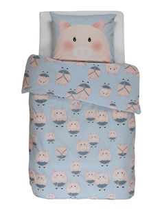 Housse de couette 140×200cm + 1taie Piggy blue Covers-and-Co