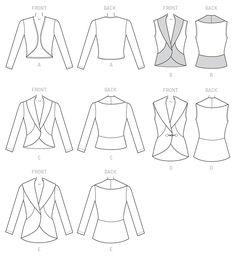 McCall's Pattern M7254 for sweater knits, Interlock, cotton knit, sweatshirt fleece. Medium-weight, moderate stretch knits.