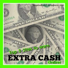 Everyone can use some extra cash in their pockets. You can make some extra cash online line in your spare time and from the comforts of your own home.It's simple! This is something I'…