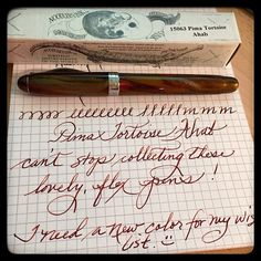 Yay! Incoming mail package from  @gouletpens  Loving these Ahabs. Pima Tortoise pen. Diamine Ancient Copper ink.