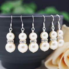 Wedding Bridal Earrings Bridesmaid Gifts by earringsnation on Etsy, $12.00