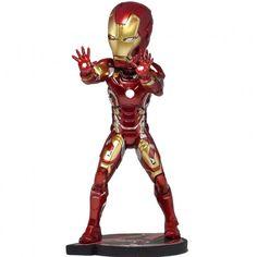 Official Avengers Age of Ultron Iron Man Head Knocker Bobblehead Marvel Neca Toy
