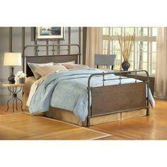 Elliot Old Rust Metal Bed or Headboard -guest bedroom