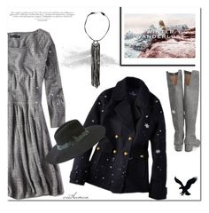 """""""Winter Wanderlust with American Eagle: Contest Entry"""" by arethaman ❤ liked on Polyvore featuring American Eagle Outfitters, Sam Edelman and aeostyle"""
