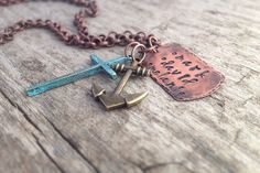 Personalized Men's Family Necklace - Hand Stamped Names - Made to Order on Etsy, $40.00 CAD