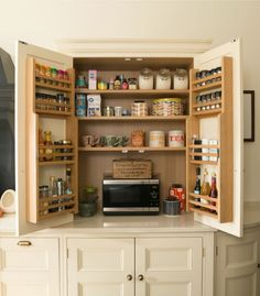 The Mini Pantry by Humphrey Munson is a great space saver for compact kitchens. #pantry #kitchen #dreamkitchen