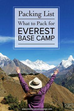 trekking gear for everest base camp