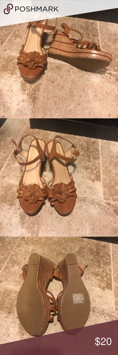 Wanted wedges NWOT tan wedges Wanted Shoes Wedges