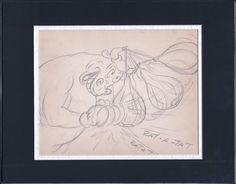 Popeye 1952 Production Animation Production Storyboard with coa Famous 2*