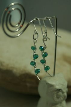 Hey, I found this really awesome Etsy listing at https://www.etsy.com/listing/230509892/wire-wrapped-wavy-birthstone-earrings