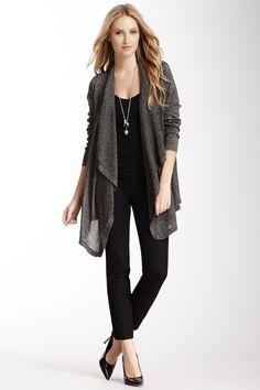 Metallic Drape Jacket --Awesome Outfit--