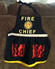 Items similar to Fire Chief Apron Fireman Dress up on Etsy Dress Up Aprons, Dress Up Outfits, Sewing For Kids, Baby Sewing, Princess Aprons, Childrens Aprons, Dress Patterns, Apron Patterns, Kids Dress Up