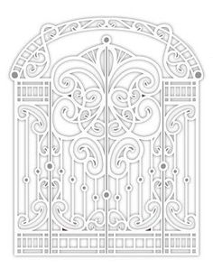 Creative Expressions Sue Wilson Die - Special Occasions Collection - Arbour Gate - CED9403 by PNWCrafts on Etsy