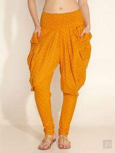 Hot!  Yellow designer Jodhpuri pants