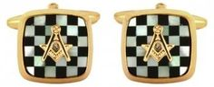 Masonic Mother Of Pearl & Onyx Cushion Embossed Cufflinks The Men's Gift Company. $80.97. Dispatched from UK within 24 hours. Estimated delivery 6-10 working days (USA & Canada).. An ideal gift for birthdays, anniversaries & other special occasions. Made with strong, nickel free, non-tarnish materials. 2 Year Product Guarantee. Our 'dolphin swivel' cufflink fittings provide ease of wearing as they slip neatly through the cuff.. Save 22%!