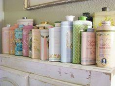 vintage talc tins