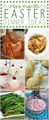 Easter Dinner Ideas {Round-Up} - more than 65 ideas perfect for your Easter table! #easter #dinner #round-up by lovebakesgoodcakes, via Flic...