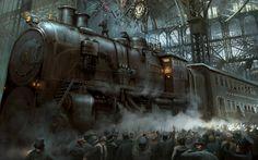 steampunk train station - Google Search