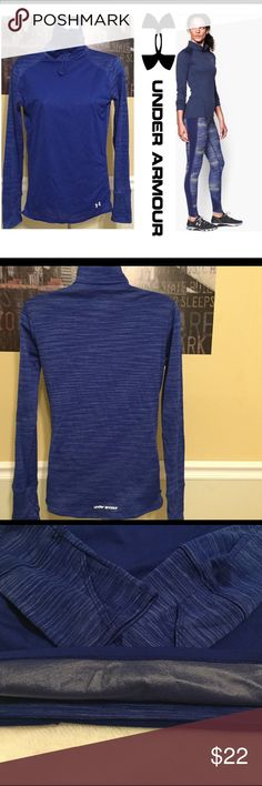 Under Armour women's small Top cold gear cozy neck This Under Armour Top is in excellent condition .  FLAWLESS no rips, tears, stains, or discoloration and comes from a smoke free home.  Buy with confidence I am a top rated seller, mentor, and fast shipper.  Thank you. Under Armour Tops