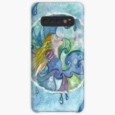 Fairy of Water Samsung Galaxy Snap Case Fairy Paintings, Green Paintings, Fantasy Paintings, Fantasy Art, Summer Tunes, Male Fairy, Green Art, Fairy Art, Butterfly Wings