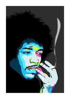 Jimi Hendrix Art Print A3 Portrait by CiaranMonaghan on Etsy