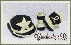 Fantasias newborn cowboy R$ 60,00  Acompanha uma chapéu e um par de botas feitos em crochê. Encomendas pelo whast 11 96712-5419