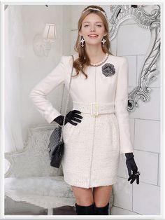 Morpheus Boutique  - White Knit Belted Lady Long Sleeve Coat, CA$174.34 (http://www.morpheusboutique.com/white-knit-belted-lady-long-sleeve-coat/)