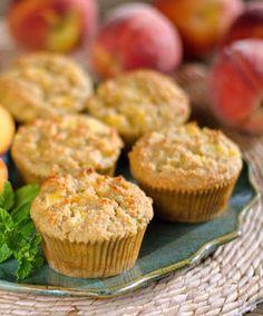 Fresh Peach Muffins | #glutenfree #grainfree #dairyfree #paleo