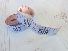 Vintage West Germany Sewing Measuring Tape Blue 60in by MarblecupcakesloftCo on Etsy