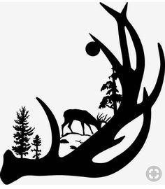 Find the desired and make your own gallery using pin. Hunting clipart deer antler - pin to your gallery. Explore what was found for the hunting clipart deer antler Hirsch Silhouette, Silhouette Projects, Silhouette Design, Deer Silhouette, Abstract Metal Wall Art, Metal Wall Art Decor, Metal Art, Wood Burning Patterns, Wood Burning Art