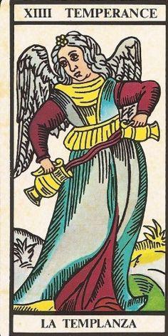 Arcano XIIII - A Temperança Carta Tarot para 10-11-2014 Hoje a energia é de harmonia e paz. A comunicação deverá ser calma e algumas empatias serão