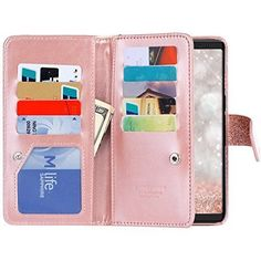 Galaxy Case, Samsung Galaxy Case, BENTOBEN Galaxy Wallet Case Glitter Faux Leather Flip Credit Card Holder Wristlet Shockproof Protective Case for Samsung Galaxy 2017 Inch), Rose Gold Buy Iphone, Iphone 8 Cases, Samsung Cases, Samsung Galaxy Note 8, Galaxy S8, Iphone Leather Case, Flip Cards, Protective Cases, Bling
