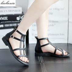 22.49$  Buy now - http://alincs.shopchina.info/1/go.php?t=32814774728 - 2017 Fashion Women Sandals Flat With Comfortable Sandals Women High Quality  #magazine