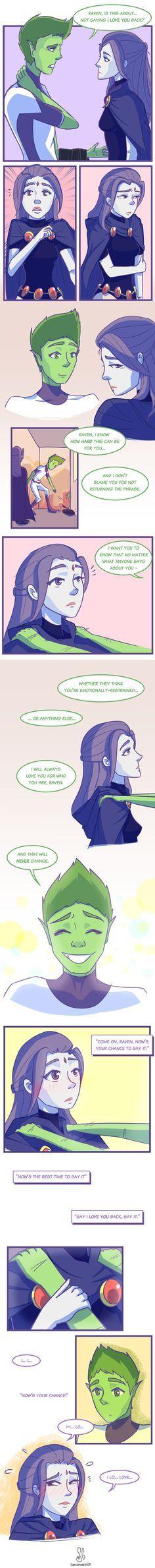 Ideas funny comics for teens beast boy Teen Titans Love, Original Teen Titans, Raven Beast Boy, Bbrae, Dc Heroes, Marvel Dc Comics, Funny Comics, Anime Couples, Comic Books