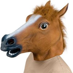 Horse Head Latex Mask