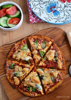 Slimming Eats Sweet Potato Pizza Crust - gluten free, dairy free, vegetarian, Paleo, Slimming World and Weight Watchers friendly